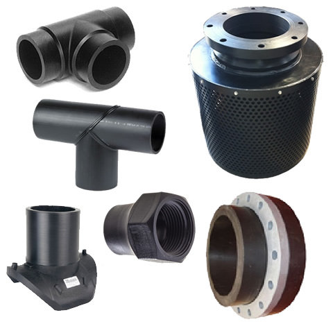 Large range of pipe fittings