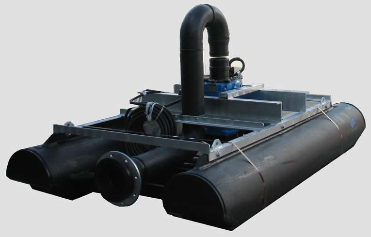 Double poly float with  submersible dewatering pump