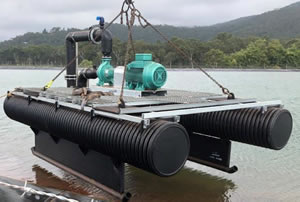 double pump pontoon with base rails