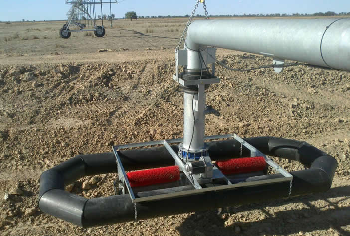 Lateral irrigator channel suction float