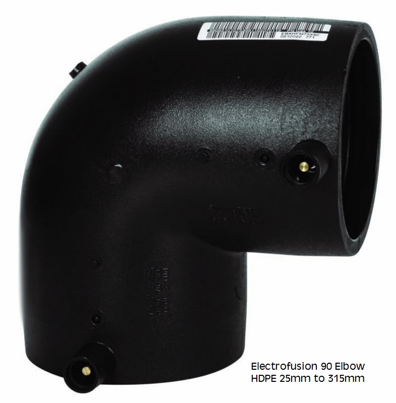 Electrofusion 90 Deg Elbow HDPE 25mm-315mm